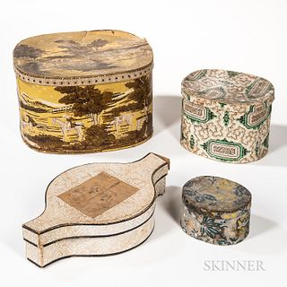 Four Wallpaper-covered Boxes