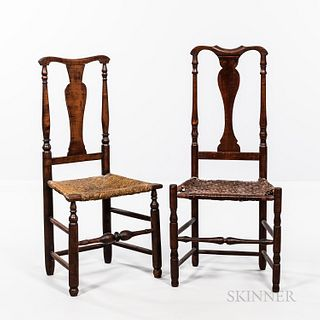 Two Yoke-back Country Chairs