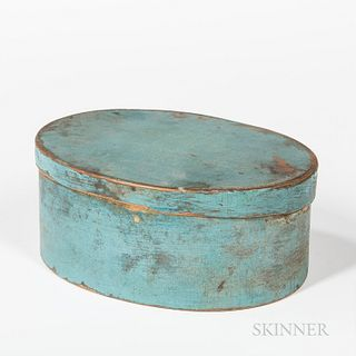 Light Blue-painted Bentwood Pantry Box