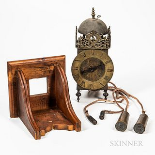 Cast and Engraved Brass and Iron Lantern Clock
