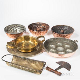 Eight Pieces of Metal Kitchenware