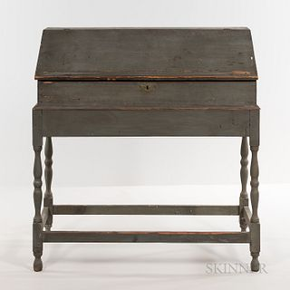 Blue/gray-painted Lift-top Desk on Frame