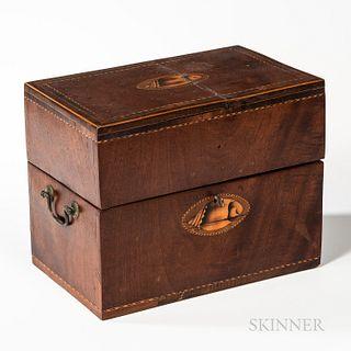 Mahogany Veneer Shell-inlaid Box