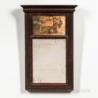 Small Red-painted Mirror