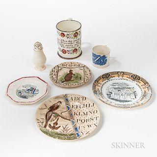 Seven Pieces of English Ceramics