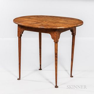 Tiger Maple Oval-top Tea Table