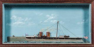 Steam Yacht Shadow Box Diorama