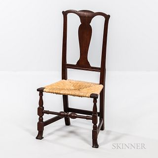 Red-washed Cherry Spanish-foot Side Chair