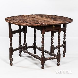 Brown-painted Maple Gate-leg Table