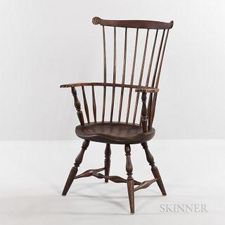 Fine Windsor Carved Fan-back Armchair
