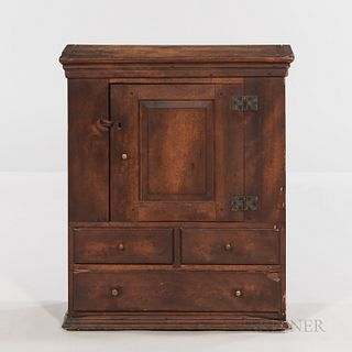Small Cherry Wall Cupboard with Drawers