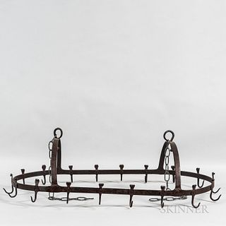 Wrought Iron Crown-form Hanging Drying Rack