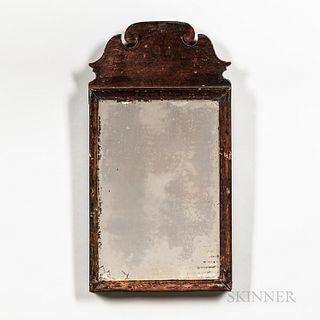 Queen Anne Black Paint-decorated Pine Mirror