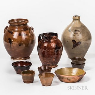 Group of Glazed American Pottery