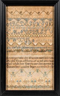 "Needlework Sampler ""Hannah A. Pike,"""