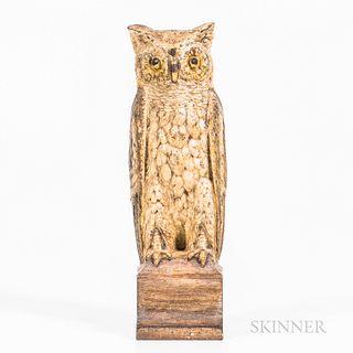 Painted Cast Iron Owl Doorstop