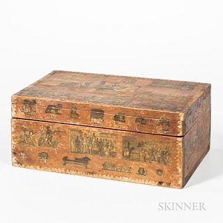Decorated Pine Box