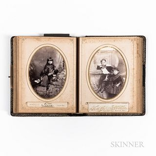 Late 19th Century Photograph Album with Images