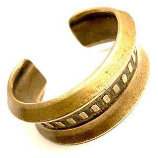 Bronze National Cash Register Casing Cuff Bracelet