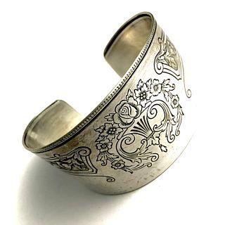 1929 Silver tray Cuff Bracelet - Gohram plated