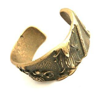 National Cash Register Casing Cuff Bracelet - Bronze
