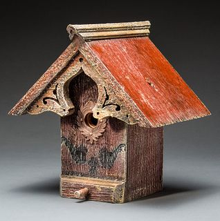 English Cottage Birdhouse with Copper Wreath
