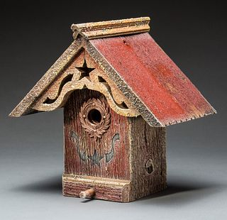 Liberty Birdhouse with Copper Wreath