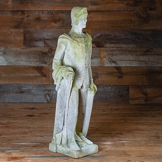 Carved Stone Figure of a Knight
