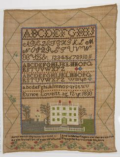 Needlework Sampler of Eunice Loveitt