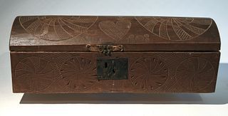 Important carved Dome Topped Box Dated 1808