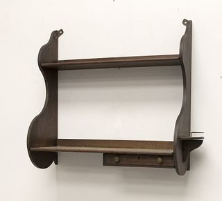 Mahogany Whale End Shelf with Drawer