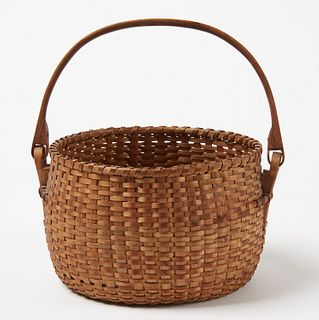 Fine and Unusual Maine Swing Handle Basket