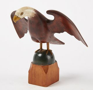 Carved Folk Art Eagle- Everett Pratt Maine