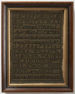 Taunton Massachusetts Sampler 1815