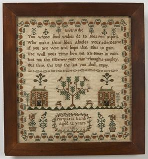 Needlework Sampler - Margaret Lamb 1831