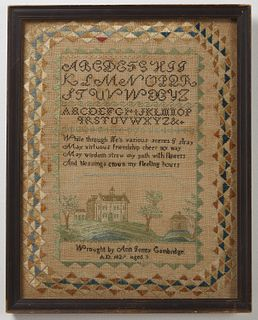 Needlework Sampler- Cambridge, Massachusetts