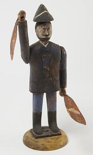 19th Century Carved Soldier Whirligig