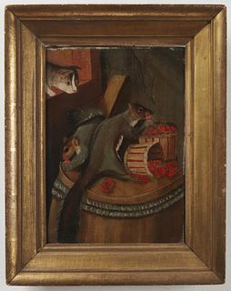 Squirrels and Cat -attributed to Susan Waters