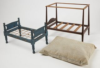 Two Antique Doll Beds