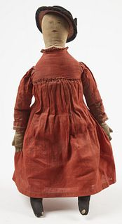 White Cloth Doll with Red Cotton Dress