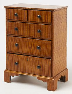 Fine Child's Tiger Maple Chest