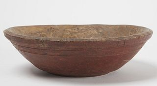 Early Painted Burl Bowl