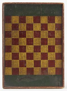 Small Painted 19th Century Gameboard