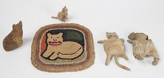 Hooked Cat Mat - Early Stuffed Cat Toys