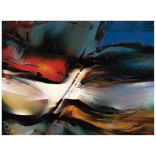 "LEONARDO NIERMAN, Untitled, Signed, Acrylic on masonite, 23.6 x 31.4"" (60 x 80 cm)"
