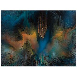 "LEONARDO NIERMAN, Untitled, Signed, Acrylic on masonite, 35.4 x 47.2"" (90 x 120 cm)"