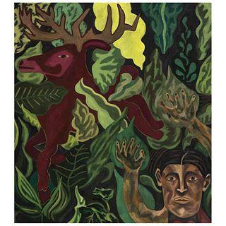 """ALEX LAZARD, Que no se escape, Unsigned, Mixed technique on canvas, 35.4 x 31.4"""" (90 x 80 cm)"""