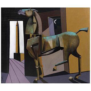 "FRANCISCO CORREA, Egyptian dream, 2020, Signed, Acrylic on canvas, 47.2 x 54.9"" (120 x 139.5 cm)"