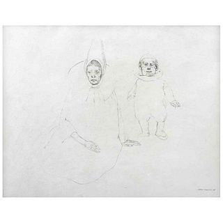 """RAFAEL CORONEL, Untitled, Signed and dated 68, Graphite pencil on paper, 10.6 x 12.9"""" (27 x 33 cm)"""
