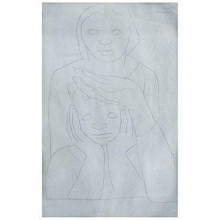 """RAFAEL CORONEL, Untitled, Signed, Graphite pencil on paper, 18.5 x 11.8"""" (47 x 30 cm)"""